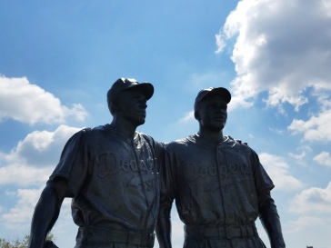 Jackie Robinson and Pee Wee Reese - Coney Island, New York - Key Bank Park