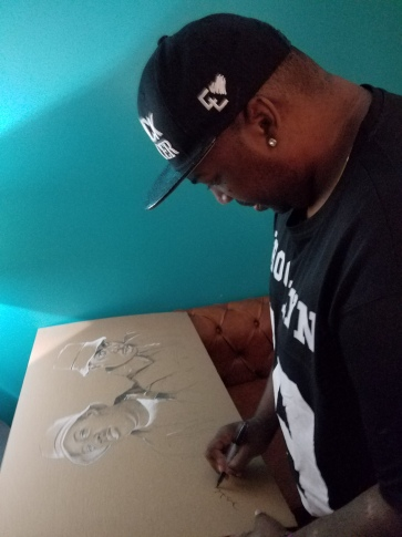 Erick Sermon (EPMD) signing the new artwork