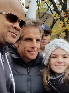 DJ Hurricane, Ben Stiller, and his daughter