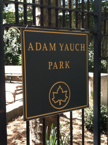 Adam Yauch Park sign - The day it was successfully installed