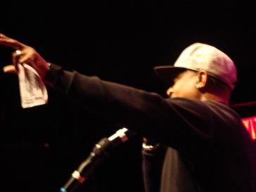 Chuck D, emceeing the Hip Hop Gods tour