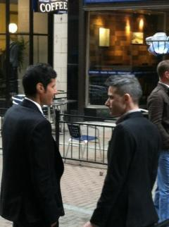 Mike D and AdRock - 4th Street - Cleveland, OH (from inside of Lola restaurant)