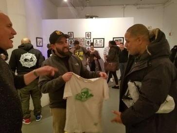 Me, presenting Joe Buck with my vintage De La Soul is Dead t-shirt