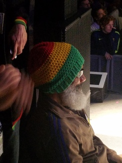 HR, from Bad Brains, at his perch on the side of the stage
