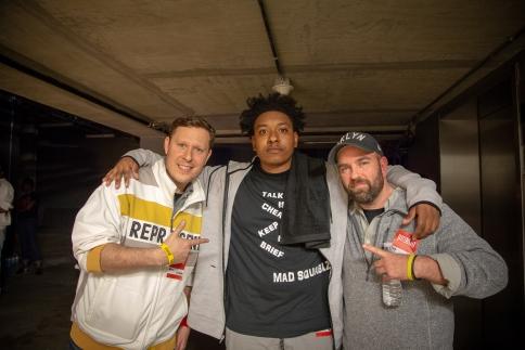 Jeremy, Mad Squablz, and myself