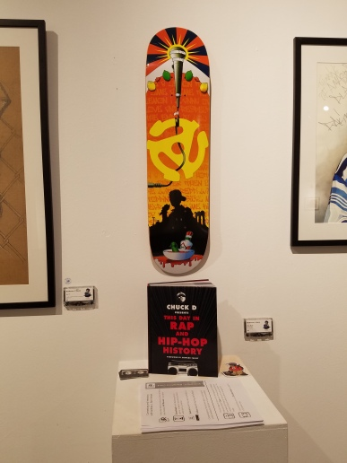 The Adam 'MCA' Yauch tribute deck, along with Chuck D's new This Day in Rap and Hip-Hop History book